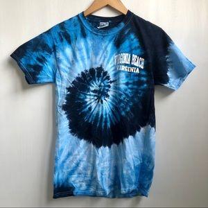 Blue Tie Dye Virginia Beach T-shirt